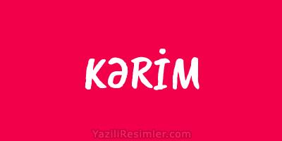 KƏRİM