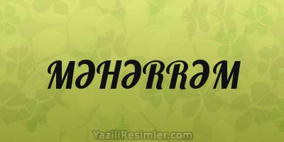 MƏHƏRRƏM