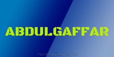ABDULGAFFAR