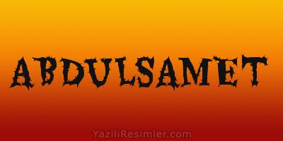ABDULSAMET
