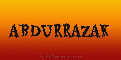 ABDURRAZAK