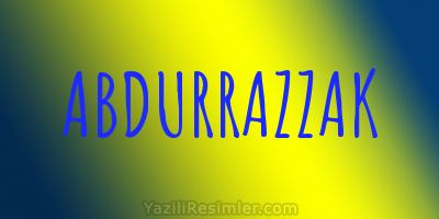 ABDURRAZZAK