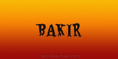 BAKIR
