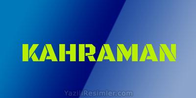 KAHRAMAN