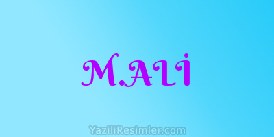 M.ALİ