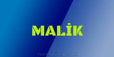 MALİK