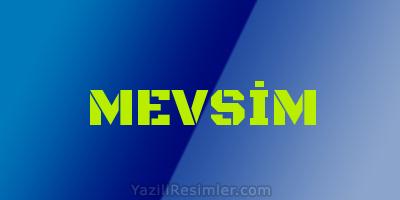 MEVSİM
