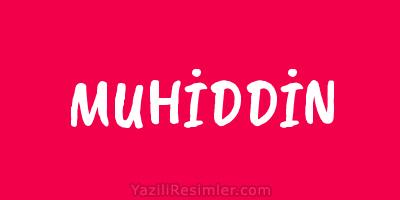 MUHİDDİN