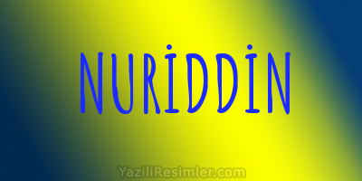 NURİDDİN