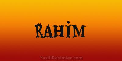 RAHİM