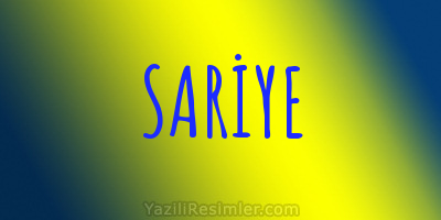 SARİYE