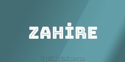 ZAHİRE