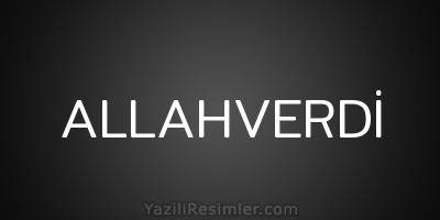 ALLAHVERDİ