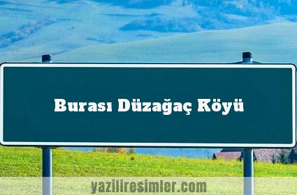 Burası Düzağaç Köyü