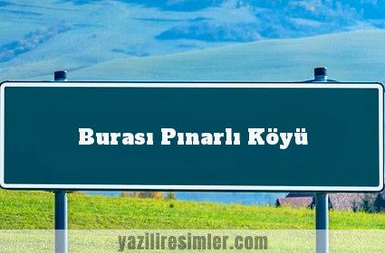 Burası Pınarlı Köyü
