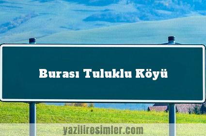 Burası Tuluklu Köyü