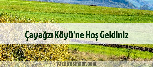 Çayağzı Köyü'ne Hoş Geldiniz
