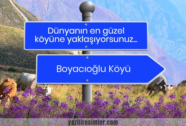 Boyacıoğlu Köyü