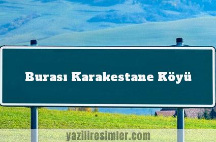 Burası Karakestane Köyü