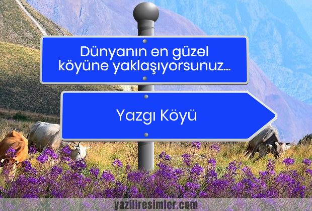 Yazgı Köyü