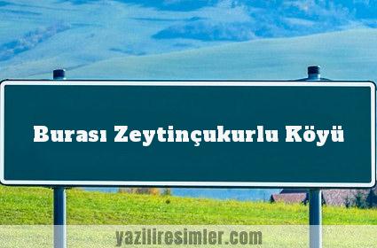 Burası Zeytinçukurlu Köyü