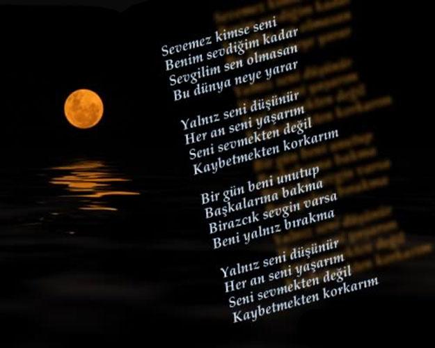 Seni sevmekten değil kaybetmekten korkarım şiir yazılı resim